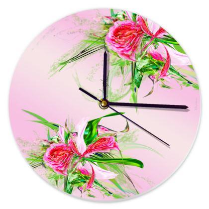 Clock - Klocka - Pastells Pink