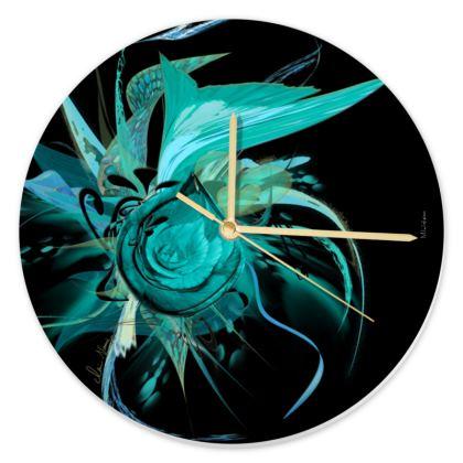 Clock - Klocka - Turquoise Black