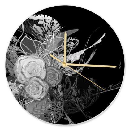 Clock - Klocka - 50 Shades of Lace Grey Black