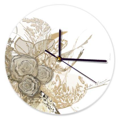 Clock - Klocka - 50 Shades of Lace White