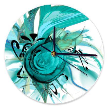 Clock - Klocka - Turquoise White