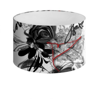 Drum Lamp Shade - Lampskärm - Love Family Happiness