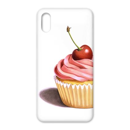 Pink Cupcake with Cherry iPhone X Case