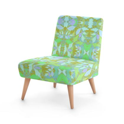 Green Occasional Chair  Foxglove  Summer Leaves