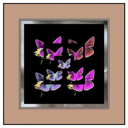 Abito romantico in raso collezione farfalle