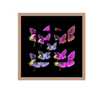 Abito elegante in raso collezione farfalle