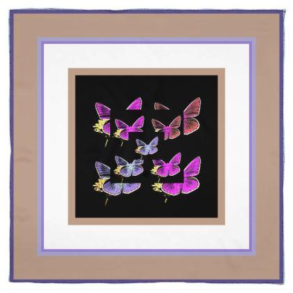 Foulard in seta collezione farfalle