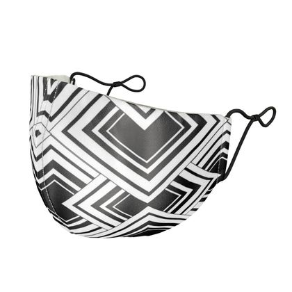 Silk Face Mask Black And White