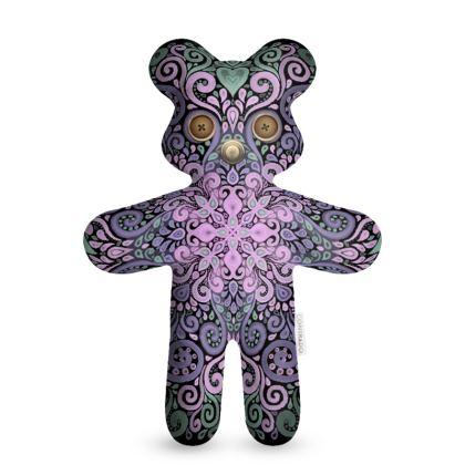 Wooden Buttons Teddy Bear