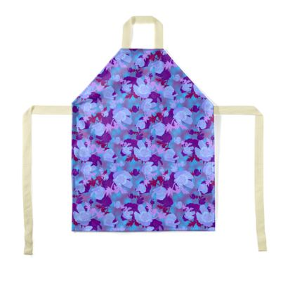 Blue Floral Aprons [child size shown]  Field Poppies  Midnight