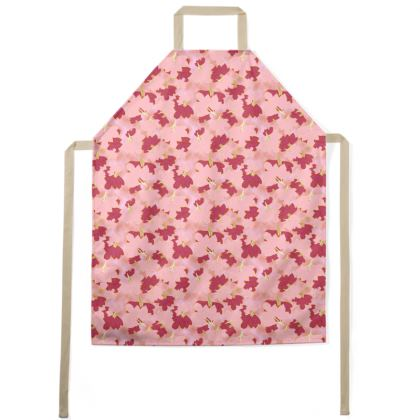 Pink Aprons  Oriental Leaves  Fruit Smoothie