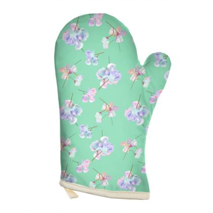 Teal Oven Glove [Rt. hand shown]  My Sweet Pea  Adriatic
