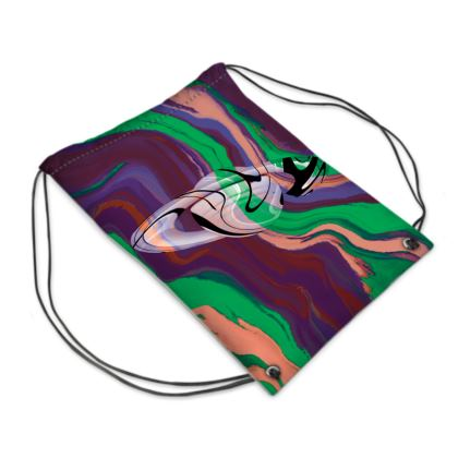 Swim Bag - Colours of Saturn Marble Pattern 2