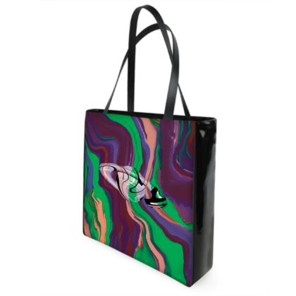 Beach Bag - Colours of Saturn Marble Pattern 2