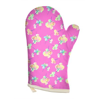 Violet Oven Glove [Rt hand shown]  My Sweet Pea  Violet