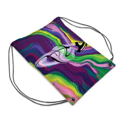 Swim Bag - Colours of Saturn Marble Pattern 3