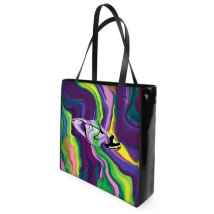 Beach Bag - Colours of Saturn Marble Pattern 3