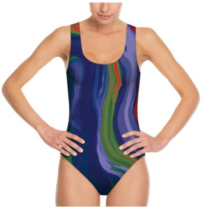 Swimsuit - Colours of Saturn Marble Pattern 4