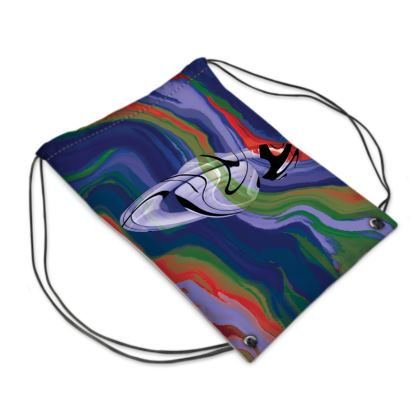 Swim Bag - Colours of Saturn Marble Pattern 4