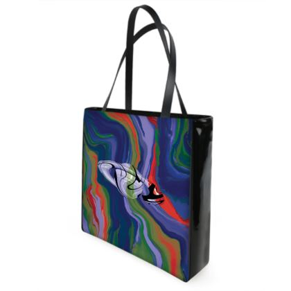 Beach Bag - Colours of Saturn Marble Pattern 4