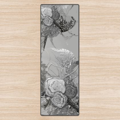 Yoga Mat - Yogamatta - 50 shades of lace grey Silver