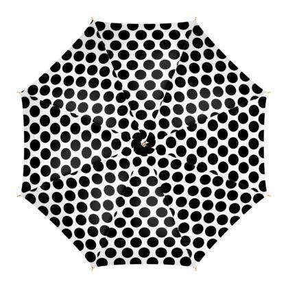 Umbrella Black Polka Dots