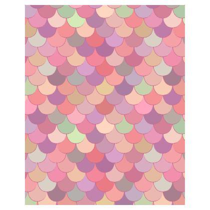 Pink Mermaid Scales Bean Bag