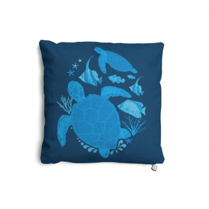 Ocean Blue Marine Animal Designer Pillows
