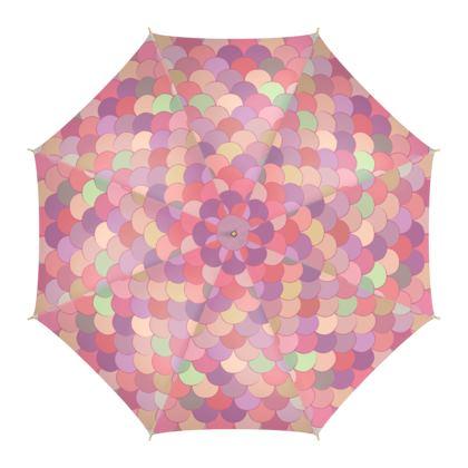 Pink Mermaid Umbrella