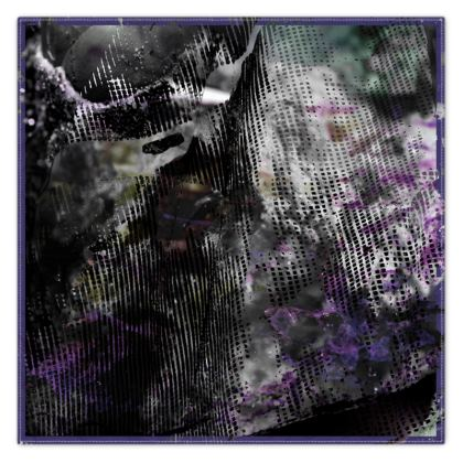 Purple Deansgate Documentary Silk Scarf