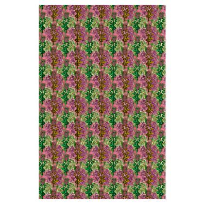 Pink Green Slip Dress  Foxglove  Tropical