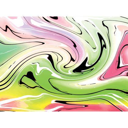 Short Flared Skirt - Multicolour Swirling Marble Pattern 2 of 12