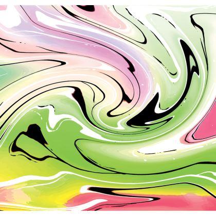 Skater Dress - Multicolour Swirling Marble Pattern 2 of 12