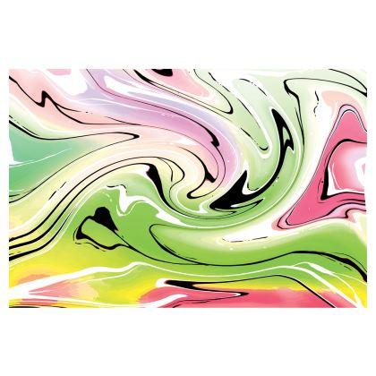 Midi Skirt - Multicolour Swirling Marble Pattern 2 of 12