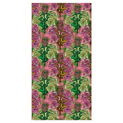 Pink Green Leggings  Foxglove  Tropical