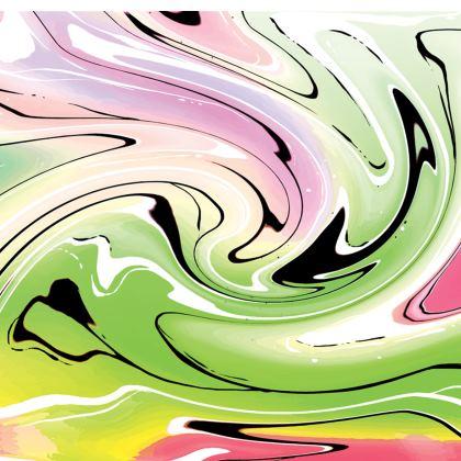 Short Slip Dress - Multicolour Swirling Marble Pattern 2 of 12