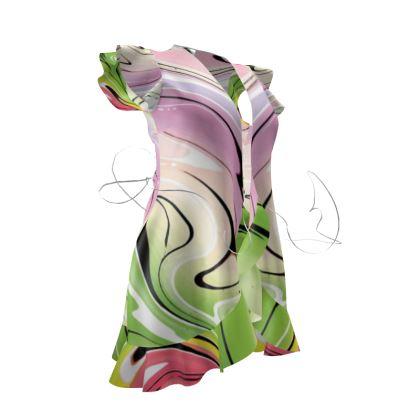 Tea Dress - Multicolour Swirling Marble Pattern 2 of 12