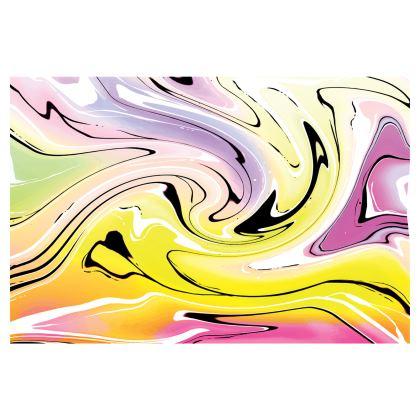 Mini Skirt - Multicolour Swirling Marble Pattern 3 of 12