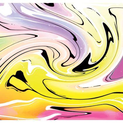 Long Slip Dress - Multicolour Swirling Marble Pattern 3 of 12