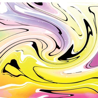 Short Slip Dress - Multicolour Swirling Marble Pattern 3 of 12