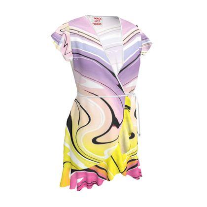 Tea Dress - Multicolour Swirling Marble Pattern 3 of 12
