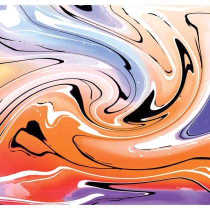 Skater Dress - Multicolour Swirling Marble Pattern 4 of 12