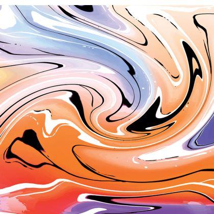 Short Slip Dress - Multicolour Swirling Marble Pattern 4 of 12