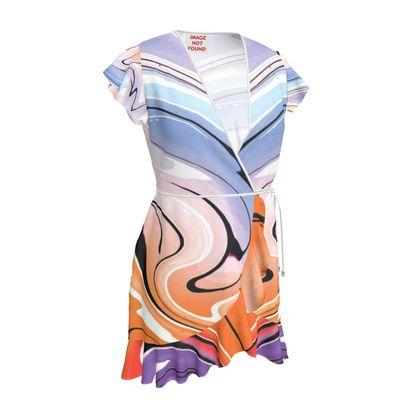 Tea Dress - Multicolour Swirling Marble Pattern 4 of 12