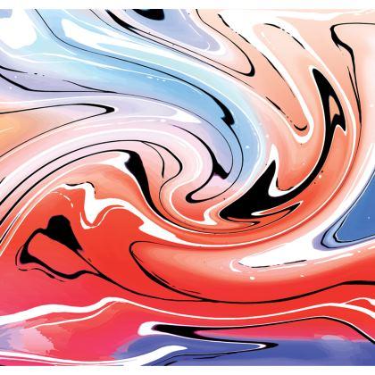 Skater Dress - Multicolour Swirling Marble Pattern 5 of 12