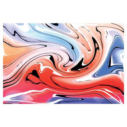 Mini Skirt - Multicolour Swirling Marble Pattern 5 of 12