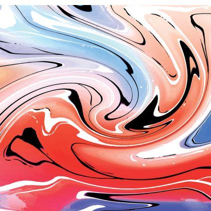 Short Slip Dress - Multicolour Swirling Marble Pattern 5 of 12