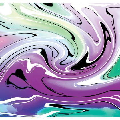 Long Slip Dress - Multicolour Swirling Marble Pattern 7 of 12