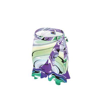 Short Flounce Skirt - Multicolour Swirling Marble Pattern 8 of 12