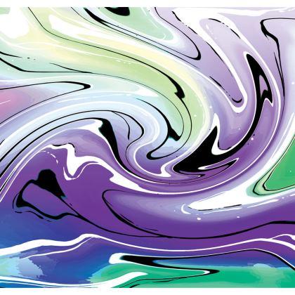 Long Slip Dress - Multicolour Swirling Marble Pattern 8 of 12